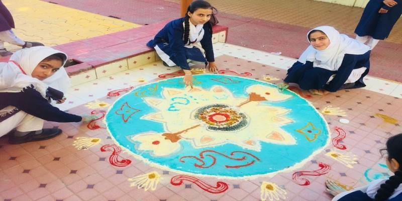 RANGOLI MAKING COMPETITION AT AGS URI ON 9TH SEP 2018